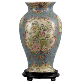 Glorious Morning Pattern - Luxury Hand Painted Porcelain - 14 Inch Vase