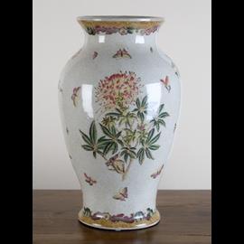 Flower Vase - Handmade Luxurious Chinese Porcelain - Spider Flower Pattern - 14t x 9dia