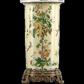 Spring Vine Pattern - Luxury Hand Painted Porcelain and Gilt Bronze Ormolu - 16 Inch Vase