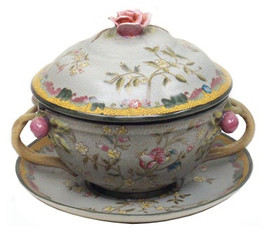 Simplicity - Luxury Hand Painted Porcelain - 8.5 Inch Tureen