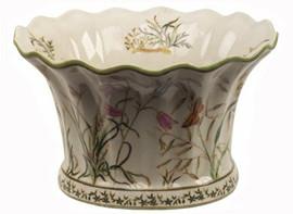 Summer Garden - Luxury Hand Painted Porcelain - 10 Inch Planter