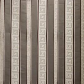Fine Handcrafted Period - Luxurie Furniture Fabric - 080 Greek Key Stripe