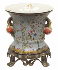Simplicity - Luxury Hand Painted Porcelain and Gilt Bronze Ormolu - 9.25 Inch Planter