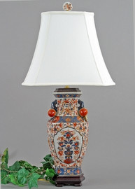 Autumn in Bloom Pattern - Luxury Hand Painted Porcelain - 30 Inch Lamp