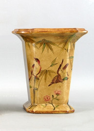 Bamboo Garden Pattern - Luxury Hand Painted Porcelain - 10 Inch Vase