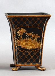 Isle of Palms Pattern - Luxury Hand Painted Porcelain - 10 Inch Vase