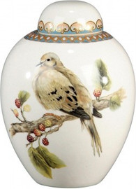 Luxe Life Soothing Nature Pattern - Luxury Hand Painted Porcelain - 7.5 Inch Jar