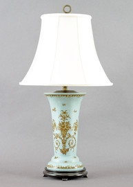 Country Antique Pattern - Luxury Hand Painted Porcelain - 31 Inch Lamp
