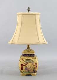 Dynasty Pattern - Luxury Hand Painted Porcelain - 18 Inch Lamp