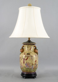Dynasty Pattern - Luxury Hand Painted Porcelain - 28 Inch Lamp