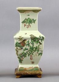 Paradise Garden Pattern - Luxury Hand Painted Porcelain - 13 Inch Vase