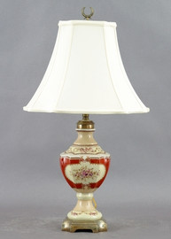 Floral Majesty Pattern - Luxury Hand Painted Porcelain - 28 Inch Lamp