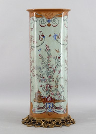 Fantasia Pattern - Luxury Hand Painted Porcelain and Gilt Bronze Ormolu - 24 Inch Vase