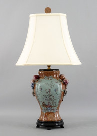 Fantasia Pattern - Luxury Hand Painted Porcelain - 29 Inch Lamp