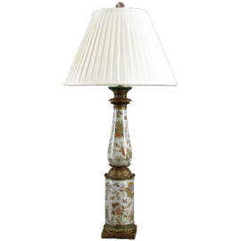 Burst of Spring Pattern - Luxury Hand Painted Porcelain and Gilt Bronze Ormolu - 37 Inch Lamp
