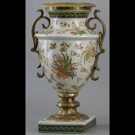 Burst of Spring Pattern - Luxury Hand Painted Porcelain and Gilt Bronze Ormolu - 11 Inch Vase