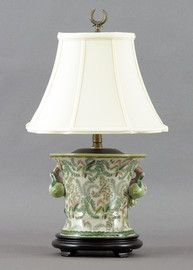 Classic Fern Pattern - Luxury Hand Painted Porcelain - 26 Inch Lamp
