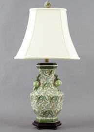 Classic Fern Pattern - Luxury Hand Painted Porcelain - 29 Inch Lamp