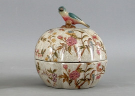 Serene Garden Pattern - Luxury Hand Painted Porcelain - 6.5 Inch Covered Box