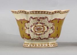 Subtle Violets Pattern - Luxury Hand Painted Porcelain - 12 Inch Planter