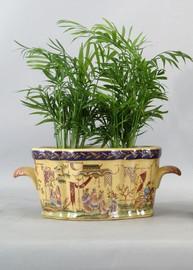 Dynasty Pattern - Luxury Hand Painted Porcelain - 12 Inch Footbath, Planter