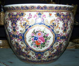 Butterfly d'Elegance - Luxury Handmade and Painted Reproduction Chinese Porcelain - 16 Inch Fish Bowl, Planter Style 35