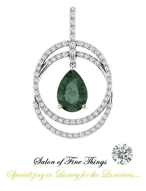 A Pear Shape Alexandrite featured set in a GuyDesign® Ladies Pendant, DG854377.91020000.73458