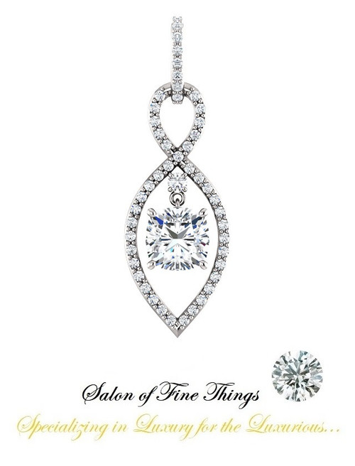 A Cushion Shape Diamond featured set in a GuyDesign® Ladies Pendant, DG854368.91020000.634588