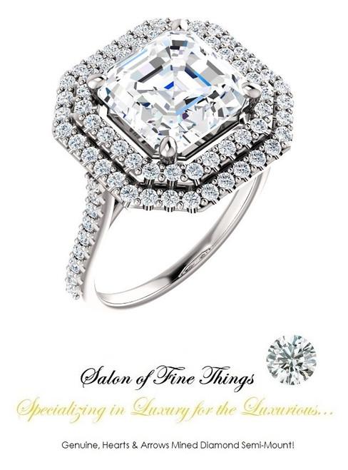 A GuyDesign®, Women's Engagement, Right Hand, or Wedding Set DG1229185.91020000.8192215 Shown with a 4.50 Carat Best Quality Asscher shape Benzgem Alternative Diamond