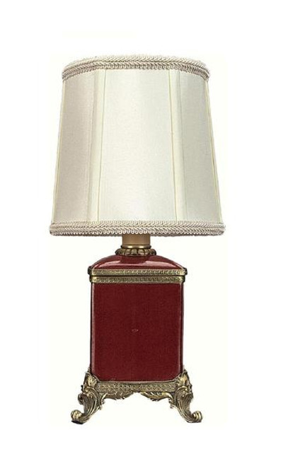 Luxe Life Finely Finished Hand Painted Porcelain and Gilt Bronze Ormolu - 13 Inch Accent | Tabletop Lamp - Glossy Red Finish