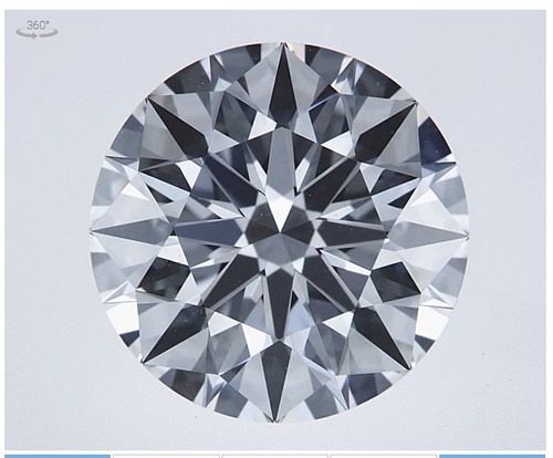 2.42 Carat, Ideal Cut Round Diamond, Lab-Grown, HpHt, G Color [Near Colorless], IF Clarity [Internally Flawless] with Video