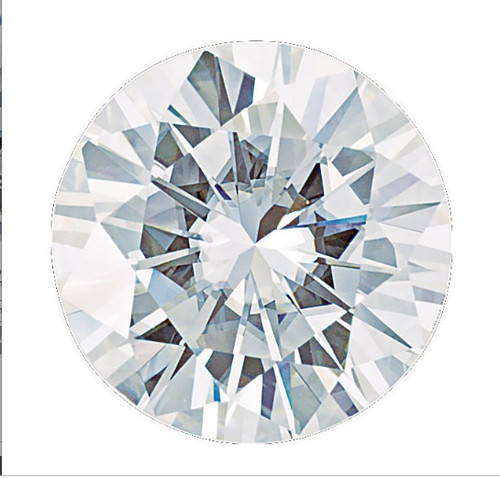 6 Carat, Ideal Cut, Hearts & Arrows Round Brilliant, Charles & Colvard Forever One Moissanite Imitation Diamond, DEF Color [Colorless], ? Clarity, ? Transparency, 10296.922209
