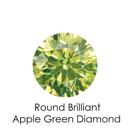 Apple Green Round Diamond, Loose Gemstones