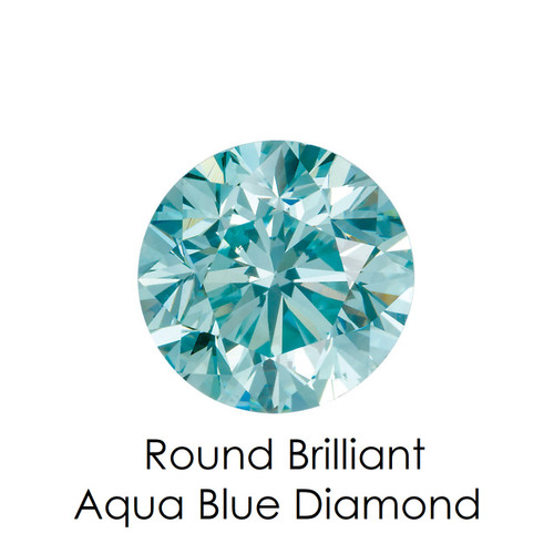 Aqua Blue Round Diamond, Loose Gemstones