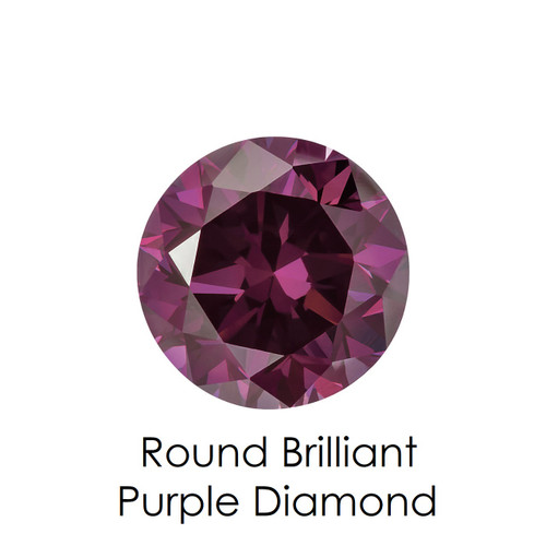 Purple Round Diamond, Loose Gemstones