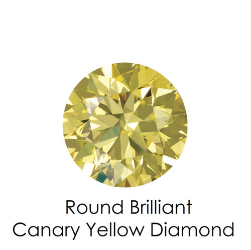 Canary Yellow Round Diamond, Loose Gemstones