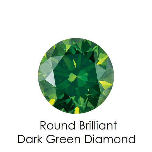 Dark Green Round Diamond, Loose Gemstones