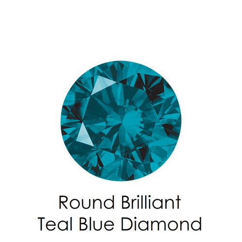 Teal Blue Round Diamond, Loose Gemstones