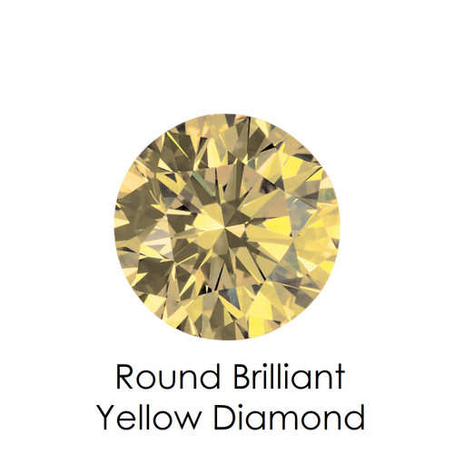 Yellow Round Diamond, Loose Gemstones
