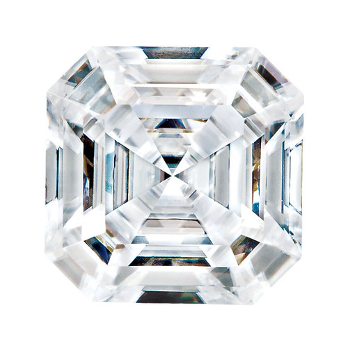4.50 carat Diamond Equivalent, Asscher Style 9 x9 Moissanite Imitation Diamond 10355dg, Jewelry Design Interface, Rings & Pendants by GuyDesign® #91020904.10355