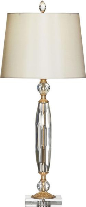 Luxe Life Finely Finished Italian Crystal and Gilt Bronze Ormolu - 29 Inch Accent | Tabletop Lamp