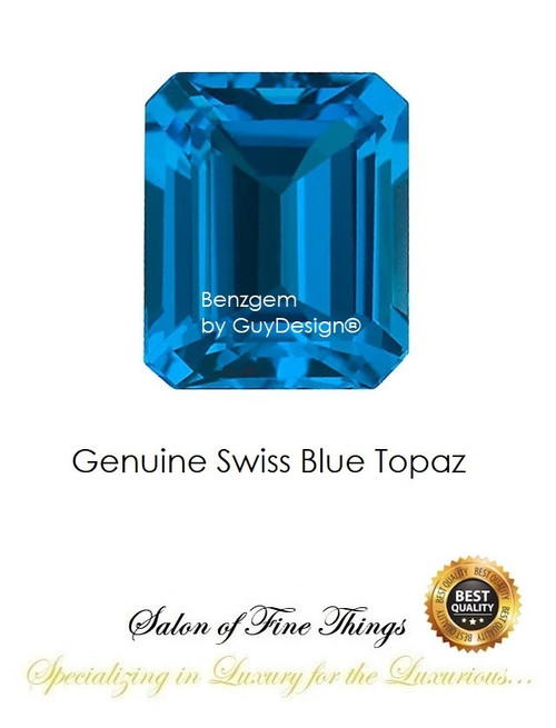 Swiss Blue Topaz, Faceted & Cabochon Loose Gemstones, 10403