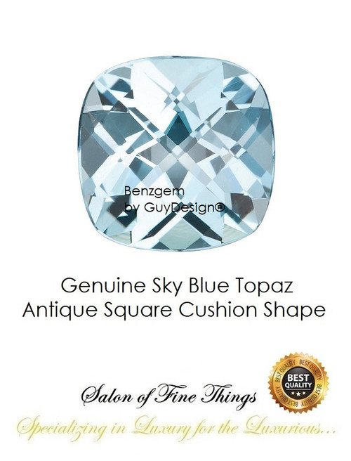 Sky Blue Topaz, Faceted & Cabochon Loose Gemstones, 10404