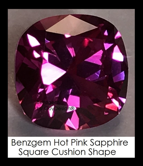 4 Carat 9x9 millimeter Square Cushion Cut Pink Sapphire, 10469 Lot 10, Excellent Cut Real Sapphire created in a Laboratory