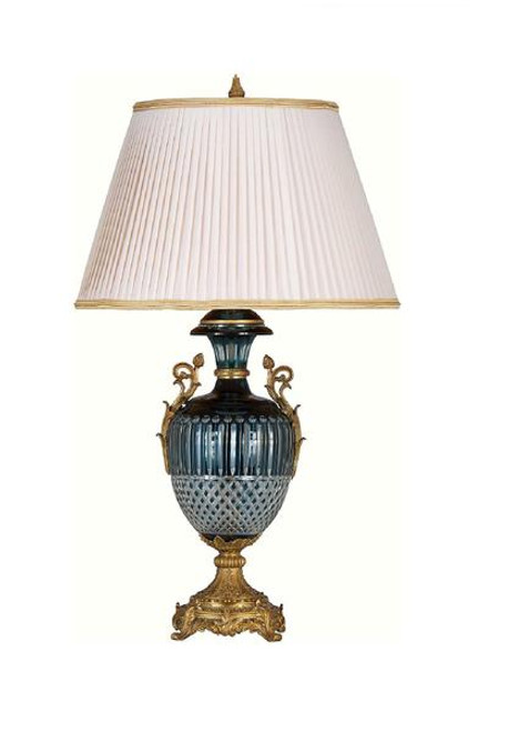 Luxe Life Finely Finished Crystal Glass and Gilt Bronze Ormolu - 32 Inch Lamp