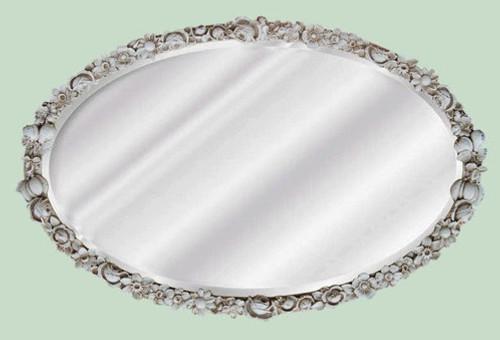 "Classic Elements, 28"" Oval Shape Beveled Glass Reproduction Mirror, Custom Finish"