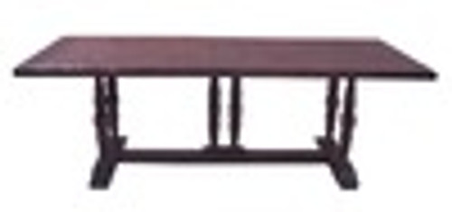 Custom Decorator - Hardwood Hand Carved Reproduction - 93 Inch Trestle Dining Table