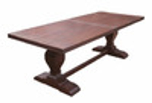 Custom Decorator - Hardwood Hand Carved Reproduction - 96 Inch Trestle Dining Table