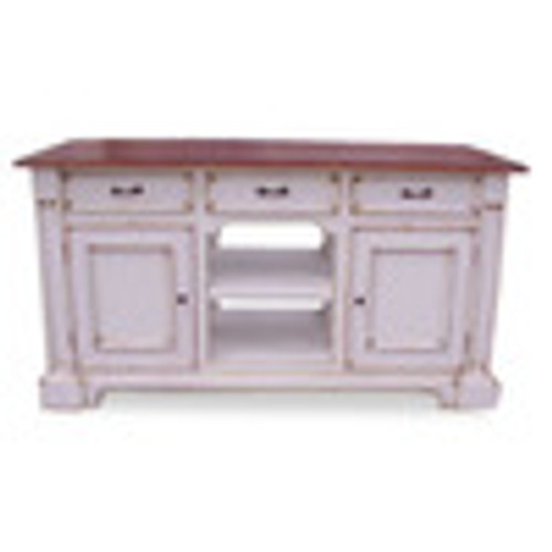Custom Decorator - Hardwood Hand Carved - Classic 61 Inch Kitchen Island