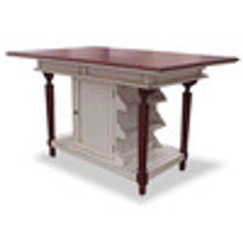 Custom Decorator - Hardwood Hand Carved - Cottage 61 Inch Kitchen Island